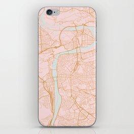 Prague map iPhone Skin