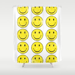 Smiley Face | Retro 70's | Vintage 70's Graphic Shower Curtain