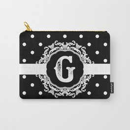Black Monogram: Letter G Carry-All Pouch