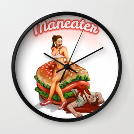 Maneater Zombie Pin Up Wall Clock