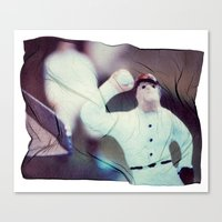 baseball Canvas Prints featuring Baseball by Tyler Hewitt
