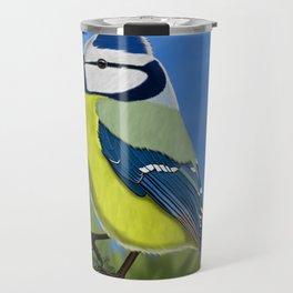 jz.birds Blue tit Bird Design Travel Mug