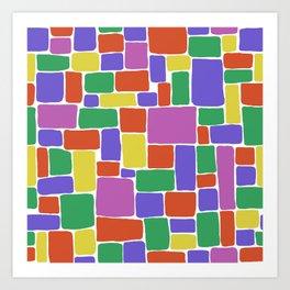 Coloured Blocks Art Print