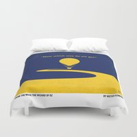 wiz khalifa Duvet Covers featuring No177 My Wizard minimal movie poster OZ by Chungkong