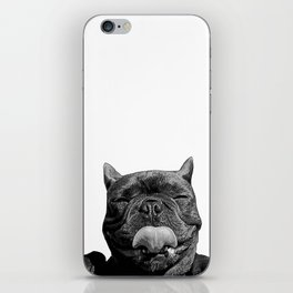 frenchie licking you iPhone Skin
