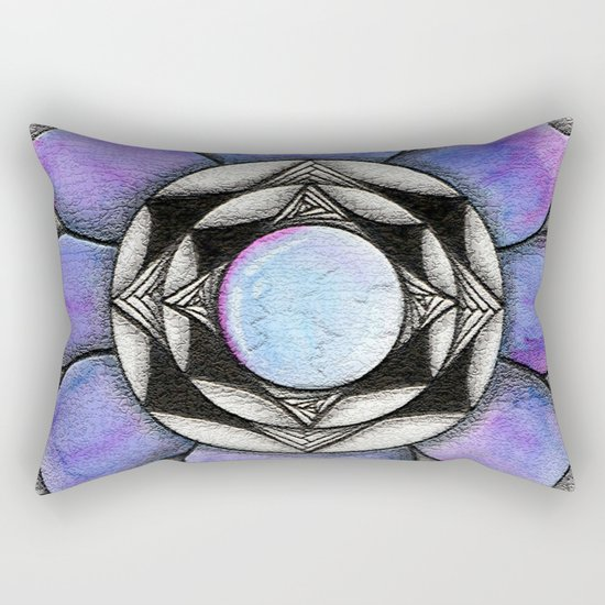 Doodled Gem Bloom Rectangular Pillow