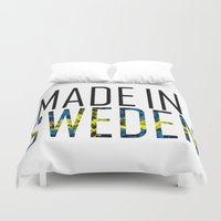 sweden Duvet Covers featuring Made In Sweden by VirgoSpice