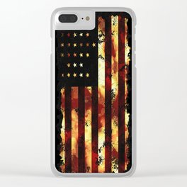Patriotic US Civil War Union Flag Clear iPhone Case