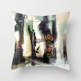 City Lost Throw Pillow