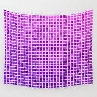 mosaic Wall Tapestries featuring Pink purple mosaic by David Zydd - Colorful Mandalas & Abstrac