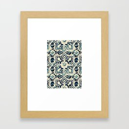 tile pattern - Portuguese azulejos Framed Art Print