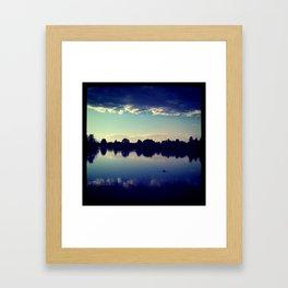 Sunset at City Park Framed Art Print
