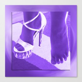 Cinders lost her shoe Canvas Print