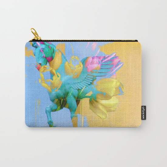 The Fly of Angelic Flowers - Digital Mixed Fine Art Carry-All Pouch