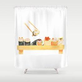 Maki Neko Shower Curtain