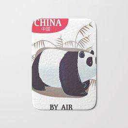 China Panda travel poster Bath Mat