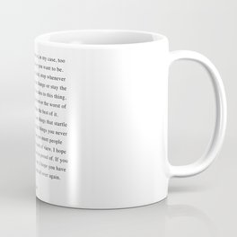 F. Scott Fitzgerald - For What It's Worth Quote  Coffee Mug