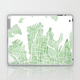 Sydney Australia watercolor city map Laptop & iPad Skin