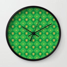 Laurel And Crown Wall Clock
