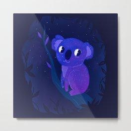 Space Koala Metal Print