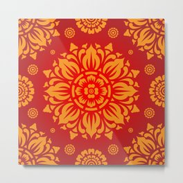 PATTERN ART03 - Red Metal Print