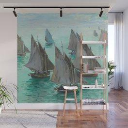 """Claude Monet """"Bateaux de pêche, temps calme"""" Wall Mural"""