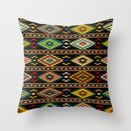 American Indian seamless pattern Throw Pillow