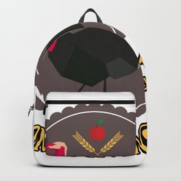 Thanksgiving day round shirt Backpack