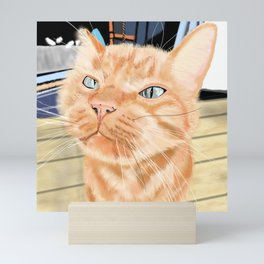 Oliver the Sniffy Red Tabby Cat Mini Art Print