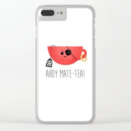 Ahoy Mate-tea! Clear iPhone Case