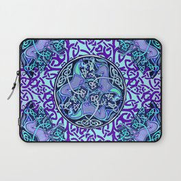 7 Blue Celtic Horses Laptop Sleeve