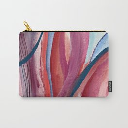 Carnival Candy: a vibrant, colorful abstract piece in pinks and blues by Alyssa Hamilton Art Carry-All Pouch