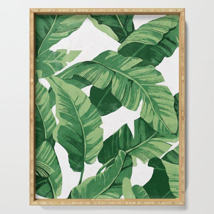 Tropical banana leaves IV Serving Tray