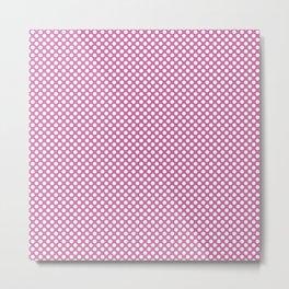 Super Pink and White Polka Dots Metal Print