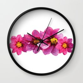 Dahlia Delilah Wall Clock