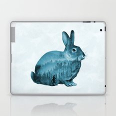 Misty Forest Bunny - Turquoise Blue Laptop & iPad Skin