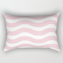 Pink Abstract Wavy Lines Pattern Rectangular Pillow