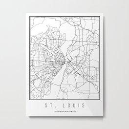 St. Louis Missouri Street Map Metal Print