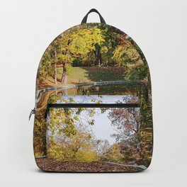 Autumn Yellow Park Park Reflection Backpack