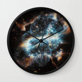 Spiral Nebula Space Wall Clock