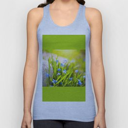 Scilla siberica flowerets named wood squill Unisex Tank Top