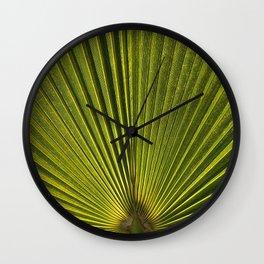 Green Plam Leaf Wall Clock