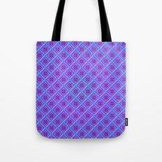 Purple Pillow Puffs Pattern Tote Bag
