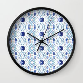 Asian Blue - inspired by Japanese textiles Wall Clock