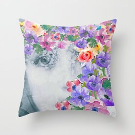 The real flower girl Throw Pillow