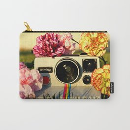 Floral Retro Carry-All Pouch