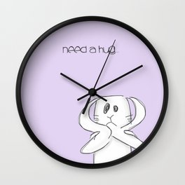 Need a hug... Wall Clock