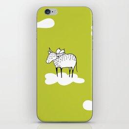 Flying Water Buffalo by Amanda Jones iPhone Skin