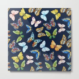 Butterfly Pattern 03 Metal Print