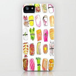 Sushi Watercolor-- Nigiri Sushi iPhone Case